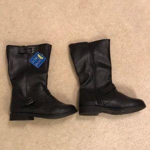 Girls Black Boots NWT
